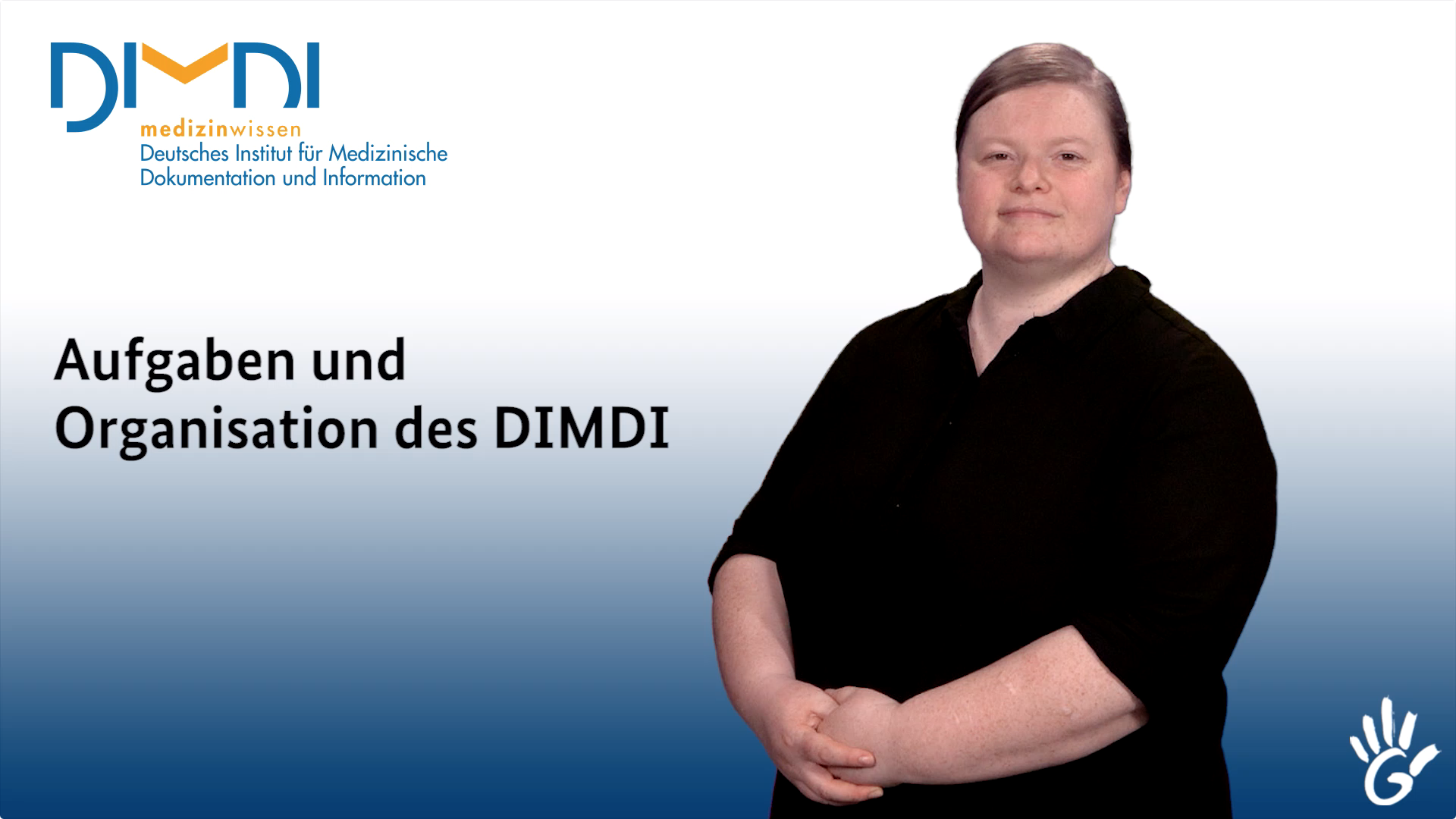 Screenshot: Video Aufgaben und Organisation des DIMDI - Preview